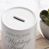 personalised Ornate Wedding Personalised Money Box