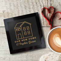 personalised glass coaster