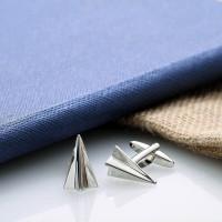 personalised Paper Plane Cufflinks Gift Set