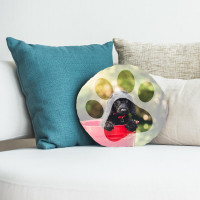 "Personalised Round Cushion 18x18"""