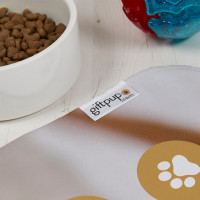 Dog Paw Print Pet Photo Blanket