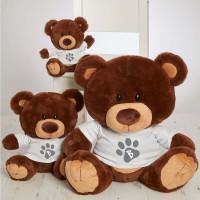 personalised paw toy choc charlie teddy bear