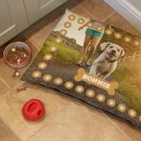 Personalised Paw Print Pet Bed