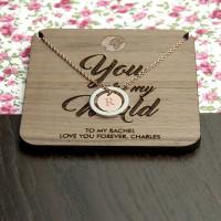 personalised My World Necklace & Keepsake