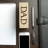 personalised wooden phone holder