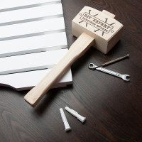 personalised DIY Expert Wooden Mallet