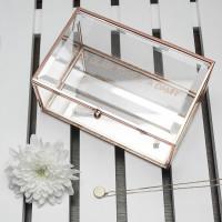 Rose Gold Glass Jewellery Box