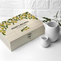 personalised Lemon Grove Recipe Box