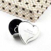 personalised Heart Silver Plated Trinket Box