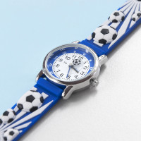 personalised Kids Blue Football Watch