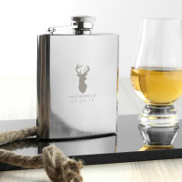 Stag 6oz Hip Flask