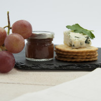 personalised Life is so much Cheddar Heart Slate Cheese Board