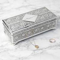 personalised Silver Trinket Box
