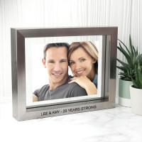 Metallic Grey Toned Photo Frame