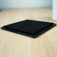 Personalised Glass Photo Coaster (Black) - image three