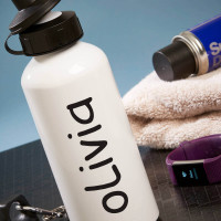 personalised Name White Water Bottle