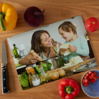 personalised Glass Photo Chopping Board