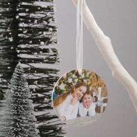 personalised Round Acrylic Photo Baubles