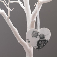 personalised Heart Acrylic Photo Baubles