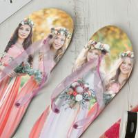 personalised Ladies Photo Flip Flops