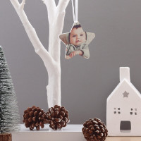 personalised Star Acrylic Photo Baubles