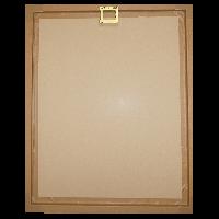 personalised Co-Ordinates Wall Art White - back