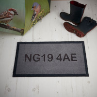 personalised postcode doormat