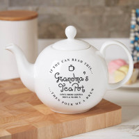 personalised 'Pour me a brew' Pot Belly Teapot