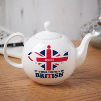 Personalised Putting The Tea In British Pot Belly Teapot