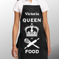 Personalised Queen of Food Apron