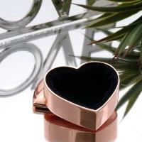 personalised rose gold heart shaped trinket box
