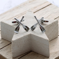 personalised Rowing Oars Cufflinks Gift Set