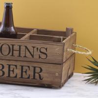 personalised rustic beer crate