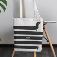 personalised Sausage Dog Canvas Tote Bag