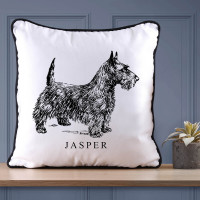 Personalised Scotty Piped Cushion