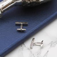 personalised Rhodium Plated Cufflinks