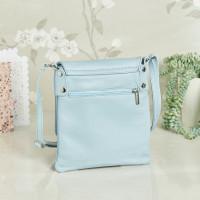 personalised Leather Crossbody Bag blue