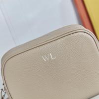 personalised Leather Crossbody Bag Khaki
