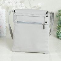 personalised Leather Crossbody Bag light grey