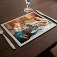 personalised Silver Photo Table Mat