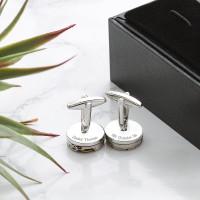 personalised watch mechanism cufflinks