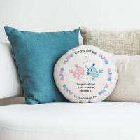 """personalised Wedding Birds Round Cushion 18"""""""