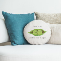 """personalised Peas in a pod Round Cushion 18"""""""
