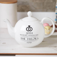 personalised 20th Anniversary Family Name Pot Belly Teapot