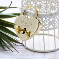 personalised Gold Lock