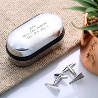 personalised Paper Plane Cufflinks Gift Set