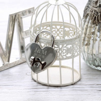personalised Silver Lock