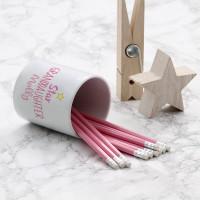 Personalised star granddaughter pot