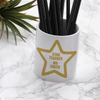 personalised Star Teacher Pen Pot