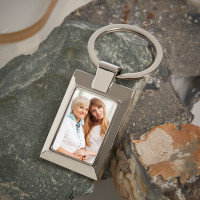 Personalised Grandma Photo Upload Metal Keyring